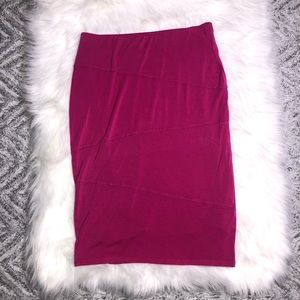 MOSSIMO hot pink pencil skirt